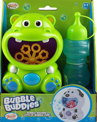 Buddies Toy Bubble Machine Hippo Bubble Blower For Parties Garden Fun Children,