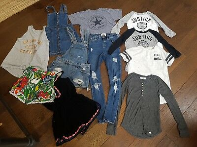 girls clothes bundle age 10-11 age 11 newlook Abercrombie converse h&m