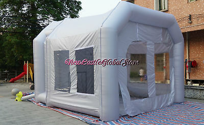 custom made portable 4m Width x4m High inflatable spray paint booth enclosure