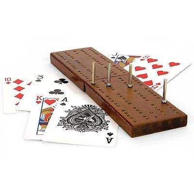 Wooden Cribbage Board Game Playing Card for Indoor Outdoor Garden Pocket Game