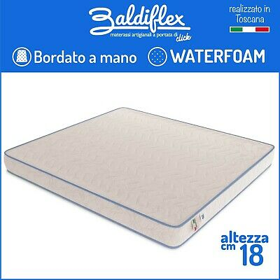 Materasso Poliuretano Waterfoam Ortopedico H 18 Cm Basic Bordato Anallergico