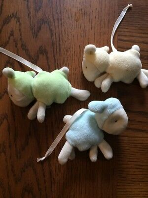 REPLACEMENT PART 3 PLUSH SHEEP For Fisher Price My Little Lamb Cradle n Swing