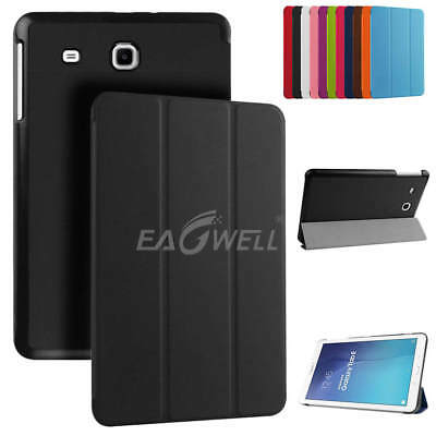 For Samsung Galaxy Tab E 9.6 Tablet T560 T561 T565 Slim Leather Smart Case Cover