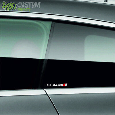 2 X AUDI MIRROR  Decal Sticker Detail-Best Quality-Many Colours