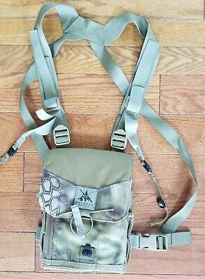 FHF Gear  Pro Binocular Harness Case Medium Kryptek Highlander. Hunting