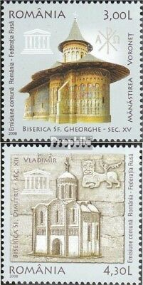 Romania 6311-6312 (complete.issue.) unmounted mint / never hinged 2008 UNESCO-We