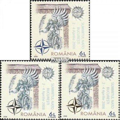 Romania 6281-6283 (complete.issue.) unmounted mint / never hinged 2008 NATO-summ