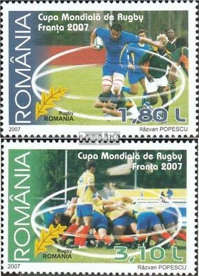 Romania 6242-6243 (complete.issue.) unmounted mint / never hinged 2007 Rubgy - W