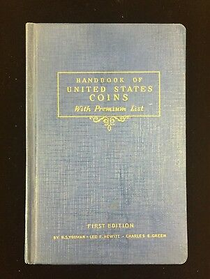 1942 Handbook of United States Coins, First Edition Blue Book!