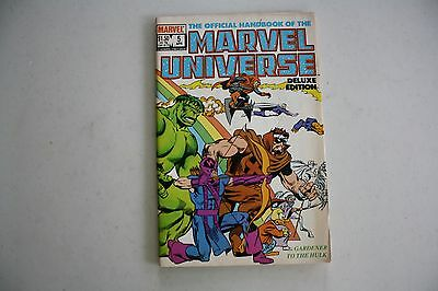 Marvel Comics The Official Handbook of the Marvel Universe   # 5 1986  B683