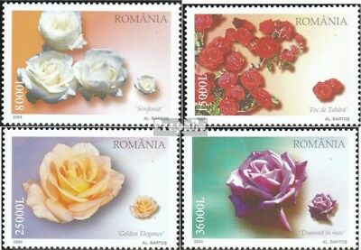 Romania 5874-5877 (complete.issue.) unmounted mint / never hinged 2004 Rose vari