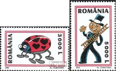 Romania 5709-5710 (complete.issue.) unmounted mint / never hinged 2003 Grußmarke