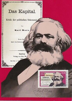Karl Marx Maximum-Karte  DDR  SoSt.  BERLIN 11.04.83