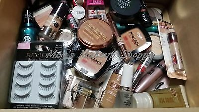 ✦✦100 PIECE NAME BRAND COSMETICS MAKEUP LOT ✦✦ CLEAN ✦✦ MAYBELLINE, REVLON etc