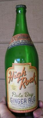 Quart High Rock Pale Dry Ginger Ale, Cap And Wwii Victory Slogan Label, Kentucky