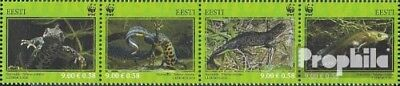 Estonia 674-677 quad strip (complete.issue.) unmounted mint / never hinged 2010