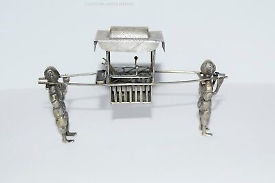 ANTIQUE CHINESE SOLID SILVER HALLMARKED LITTER / Portantina cinese in argeto