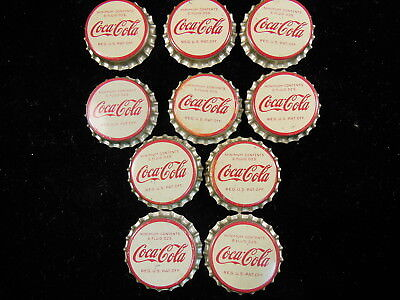 Vintage Lot Of 50 Coca Cola  6 Oz   Bottle Caps Cork Lined  Unused  Nice Shape