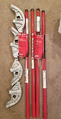 4 Gardner Bender Big Bend Conduit Pipe Benders 2 Each 1/2 & 3/4 With Poles