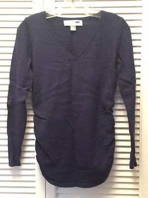EUC Old Navy Maternity Fitted V-Neck Sweater *Navy* Sz S