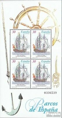 Spain block58 (complete.issue.) fine used / cancelled 1995 Old Sailboats