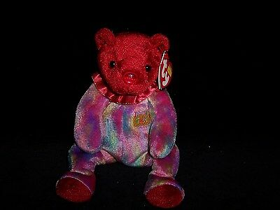 TY Beanie Baby Babies JULY Birthday Bear 2001 MINT Private Collection