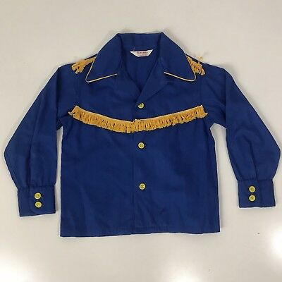 VINTAGE 1950s Kaynee loop collar SANFORIZED BOYS SHIRT SIZE 6 PRE Sailor Levi's