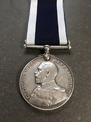 Royal Naval Long Service & Good Conduct Medal - Percy Verrell - Hms Marlborough