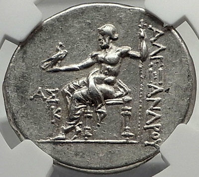 ASPENDOS 193BC Silver Tetradrachm Greek Coin ALEXANDER III the GREAT NGC i70406