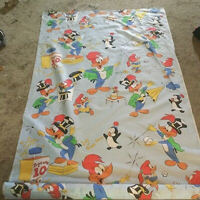 Woody Woodpecker Bed Sheet Fabric? Synthetic From Master Roll 10 Ft Section