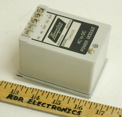 Acopian 15WB330 Encapsulated DC Power Supply 15V 3.3A + EB35DIN DIN Rail Adapter