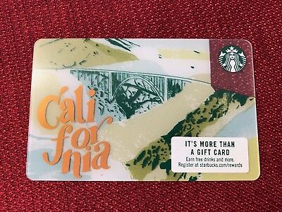 New Starbucks 2018 California Gift Card Bixby Bridge Big Sur 6156