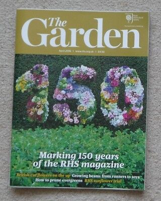 'The Garden' - April 2016 issue - RHS Royal Horticultural Society magazine