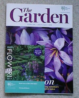 'The Garden' - October 2016 issue - RHS Royal Horticultural Society magazine