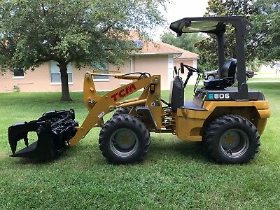 TCM E806 Wheel Loader 4x4 Quick Disconnect 3rd valve restored from ground up