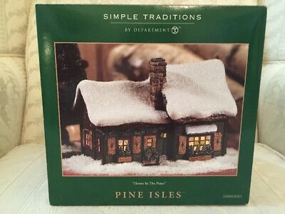 Department 56 Pine Isles HOUSE IN THE PINES NEW IN BOX