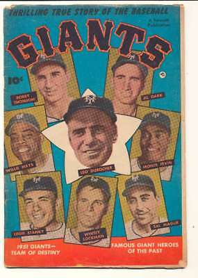 Thrilling True Story of the Baseball Giants #1 in VG condition. Fawcett comics