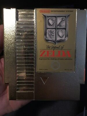 Nintendo The Legend Of Zelda Gold Cartridge NES Cart