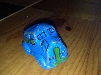 Hallmark Blue Blob toy car vintage. Early 1970s. Made in Hong Kong.