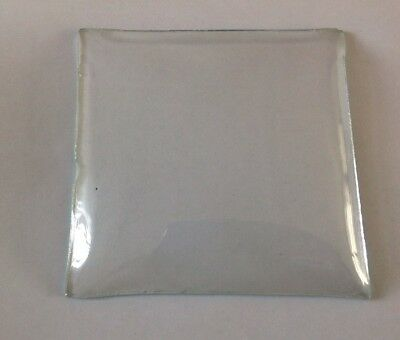 Alarm Clock Glass Convex 100mm Square Sharp Corners Ex Clockmakers Spare Parts