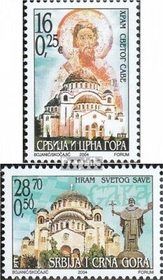 Yugoslavia 3200-3201 (complete.issue.) unmounted mint / never hinged 2004 St.-Sa