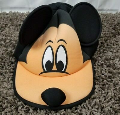 Vintage 90s Mickey Mouse Baseball Cap Hat with Ears and nose Walt Disney World