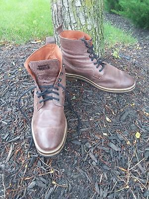 564ae41620c WOLVERINE PERCY BROWN Grain Leather Wingtip Ankle Lace Up Boots Size ...