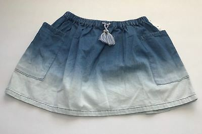 Disney Youth Toddler Girl's 100% Cotton Blue Ombre Denim Circle Skirt Size 4T