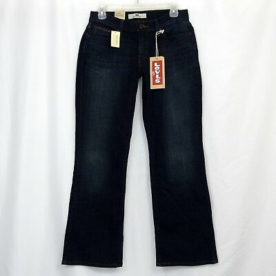 bb3cf3abc60 Levi's 529 Curvy Boot Cut Women's Denim Jeans Figure Enhancers Size 8 Short