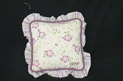 Cocalo Sugar Plum Fairy Flower Floral Green Purple Square Nursery Pillow 11x11""