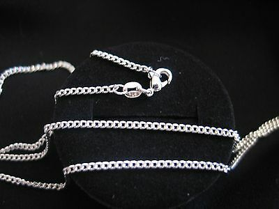 """Necklace 925 Sterling Silver """" FLAT CURB """" Chain 50cm x 2mm Beaut Gift Idea NEW"""