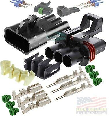Metri-Pack 280 Series 6 Prong Buss Kit w// 22-10 AWG Contacts /& Buss Bar