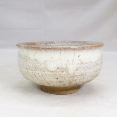 D034: Japanese tea bowl of KARATSU pottery with good taste and atmosphere