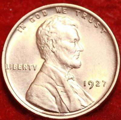 Uncirculated Red 1927 Philadelphia Mint Copper Lincoln Wheat Cent
